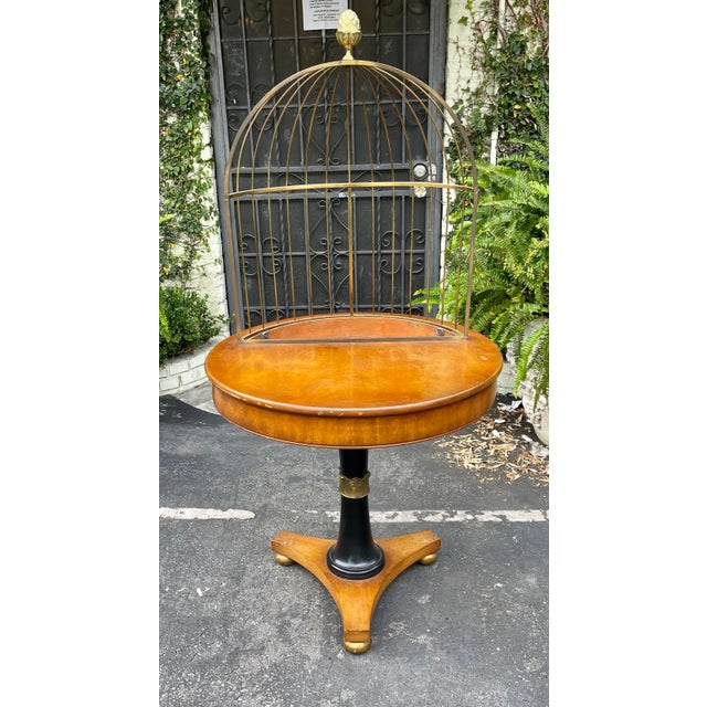 1950s Rare Grosfeld House Hollywood Regency Mid Century Modern Empire Birdcage Jardenier Table For Sale - Image 5 of 5