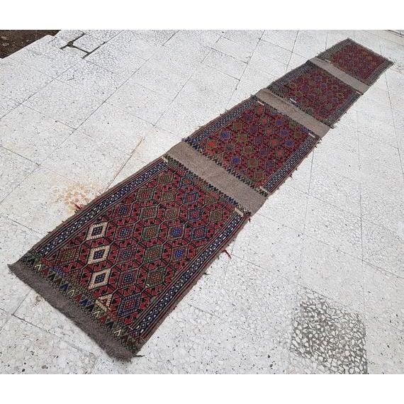 1970s Vintage Turkish Kilim Runner Rug - 1′9″ × 13′4″ For Sale - Image 11 of 11