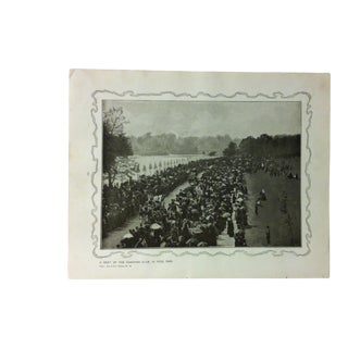 """1906 """"A Meeting of the Coaching Club - in Hyde Park"""" Famous View of London Print For Sale"""