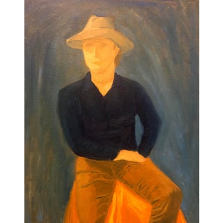 Portrait of a Man Oil Painting, 1990s For Sale