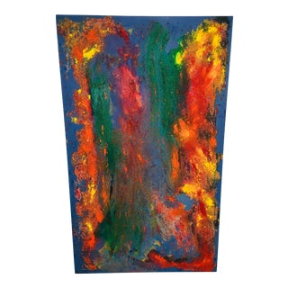 20th Century Abstract Oil Painting on Canvas For Sale
