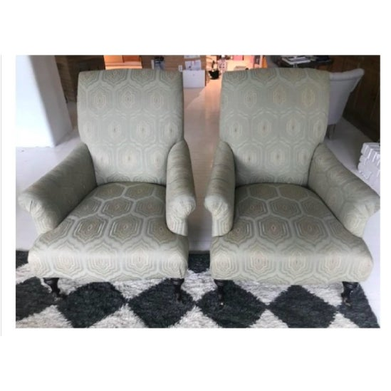 Fabric Modern Mitchell Gold+Bob Williams Rebecca Chairs - A Pair For Sale - Image 7 of 7