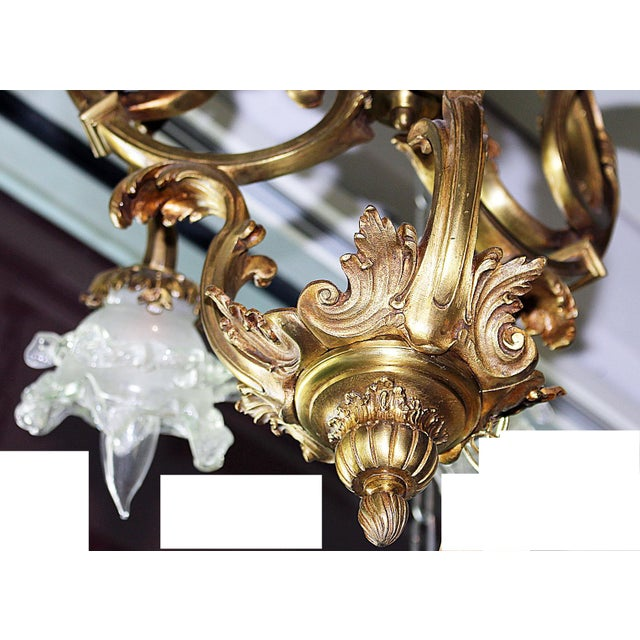 French Bronze-Dore' Art-Nouveau Fixture For Sale - Image 5 of 9
