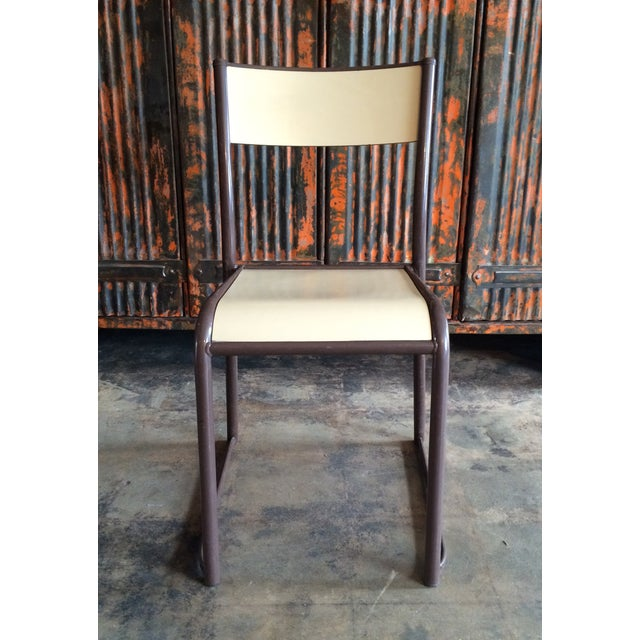 French Vintage Industrial Dining Chairs - Set of 6 - Image 3 of 10