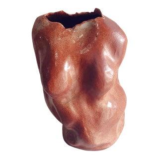 Large Biomorphic Artist Signed Organic Vase or Sculpture For Sale