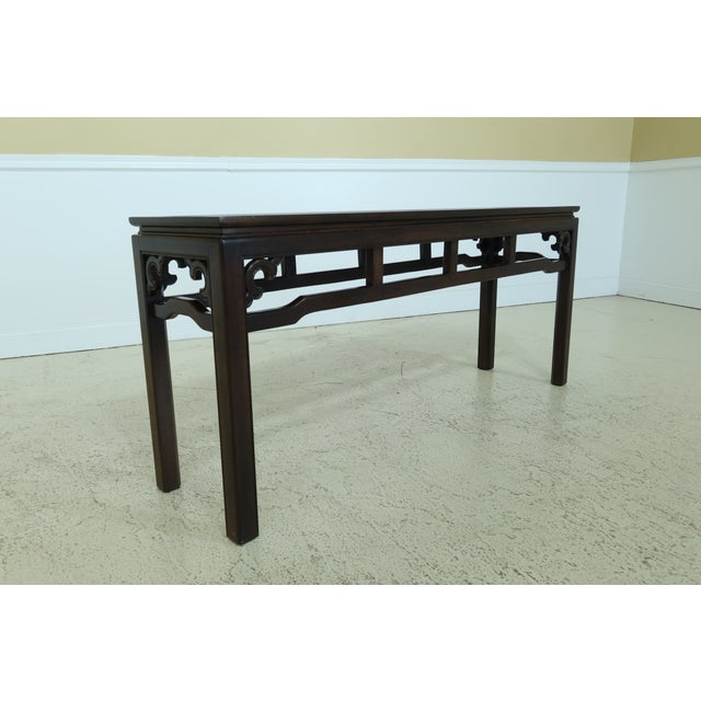 Drexel Drexel Chinese Oriental Style Modern Design Sofa Table For Sale - Image 4 of 7