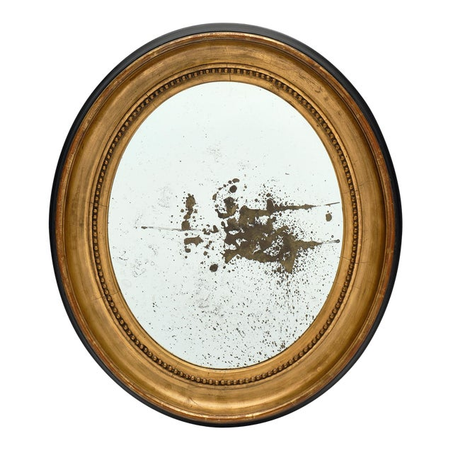 Louis XVI Period French Oval Mirror For Sale