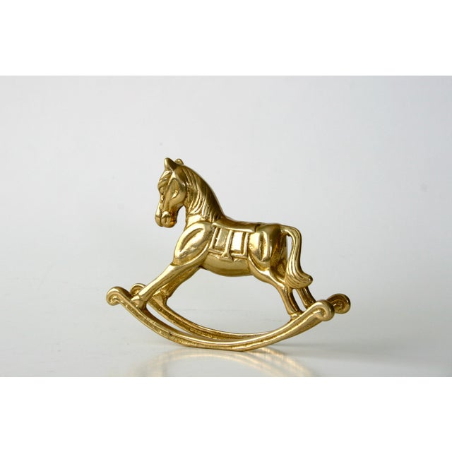 20th Century Childrens Brass Rocking Horse Figurine For Sale In Seattle - Image 6 of 10