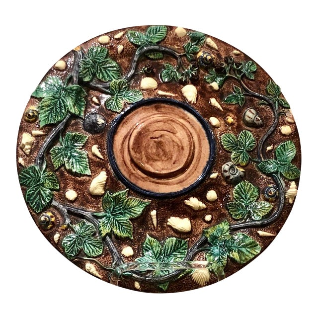 Thomas Sergent Palissy Plate, France Circa 1880 For Sale