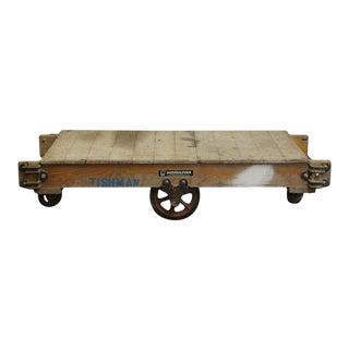 Vintage Wooden Factory Cart For Sale