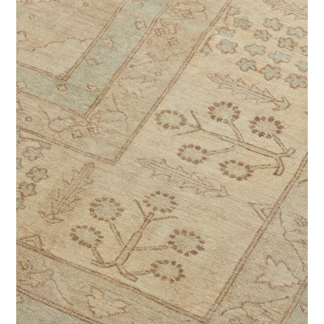 MANSOUR Handwoven Tabriz Style Wool Revival Rug For Sale - Image 4 of 8