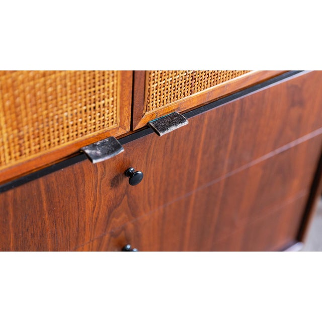 Brown 1960s Mid Century Modern Jack Cartwright for Founders Walnut Armoire Dressers - a Pair For Sale - Image 8 of 10