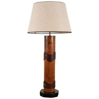 Vintage Wallpaper Roller Lamp For Sale