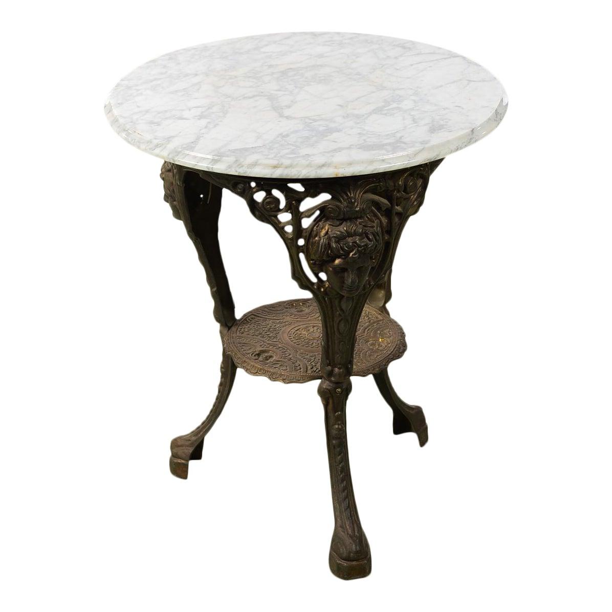 World Class Antique English Cast Iron Pub Bistro Table W