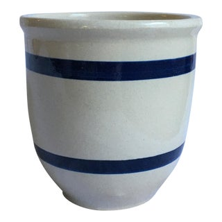 Mid 20th Century Roseville 1 Quart Pottery Kitchen Crock For Sale