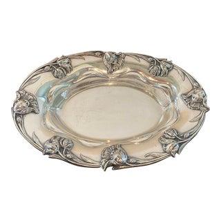 Art Nouveau Silver Plate Bowl For Sale