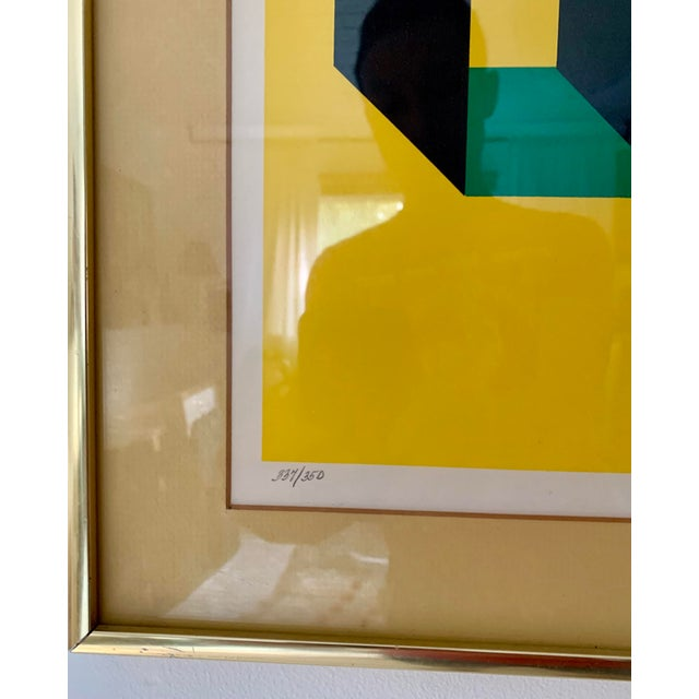 1980s Limited Edition Abstract Painting For Sale - Image 4 of 6