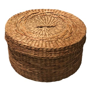Round Sweetgrass Box For Sale