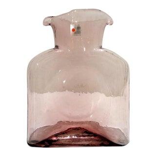 Vintage Blenko Lilac Amethyst Carafe Decanter Vase For Sale