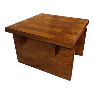 Mid Century Modern Lane Brutalist Oak Coffee Table