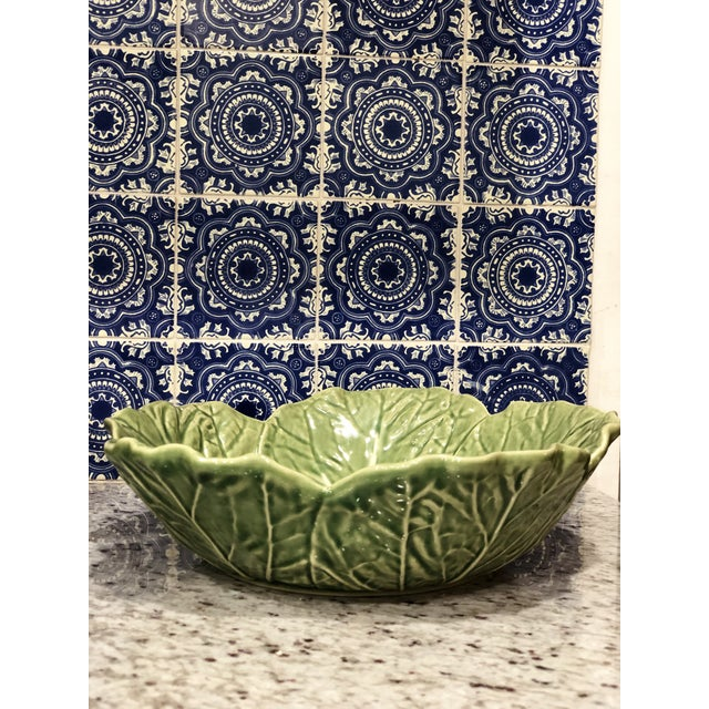 Vintage Bordallo Pinheiro Cabbage Majolica Bowl. Perfect to display in a curio cabinet as part of a collection, or to use...