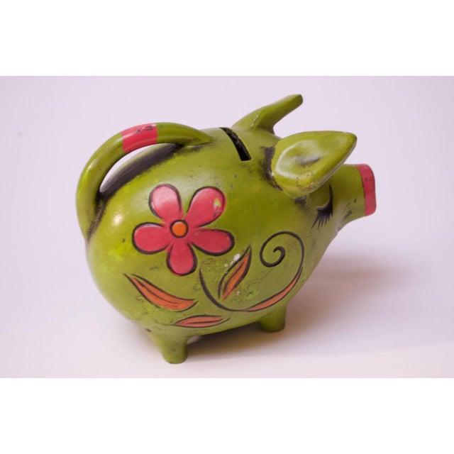 1960s Vintage Japanese Paper Mache Piggy Bank For Sale - Image 5 of 11