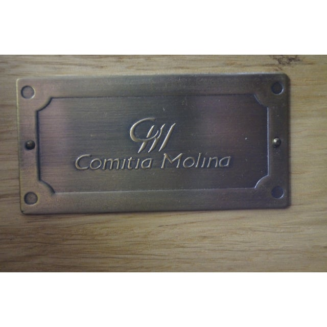 Comitia Molina Demilune Burl Wood Marble Top Chests - a Pair For Sale - Image 9 of 10