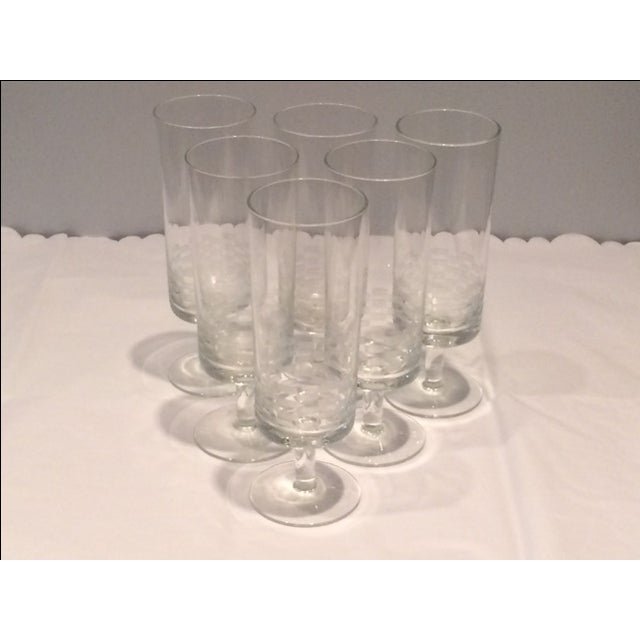 MCM Geometric Etched Champagne Flute Set - 6 - Image 2 of 8
