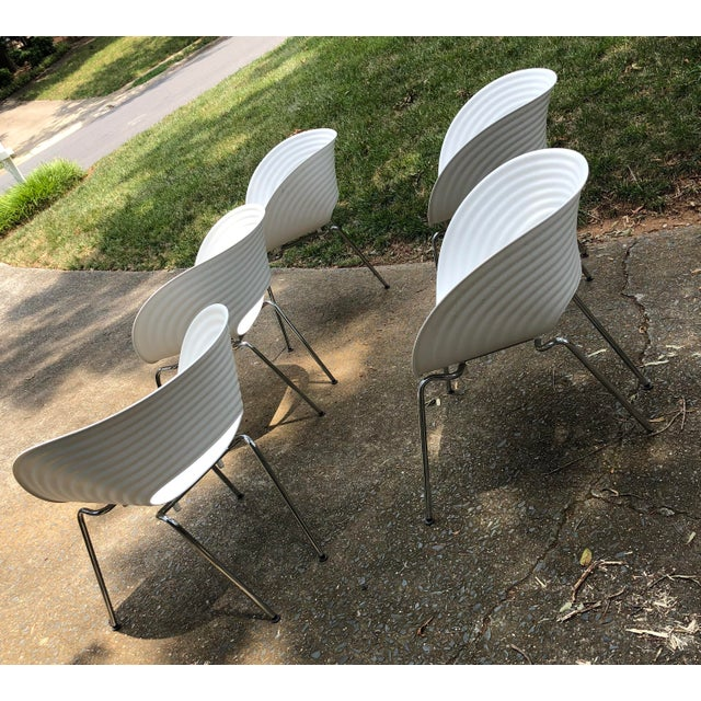 Danish Modern Tom Vac Ron Arad by Vitra Chairs - Set of 5 For Sale - Image 3 of 12