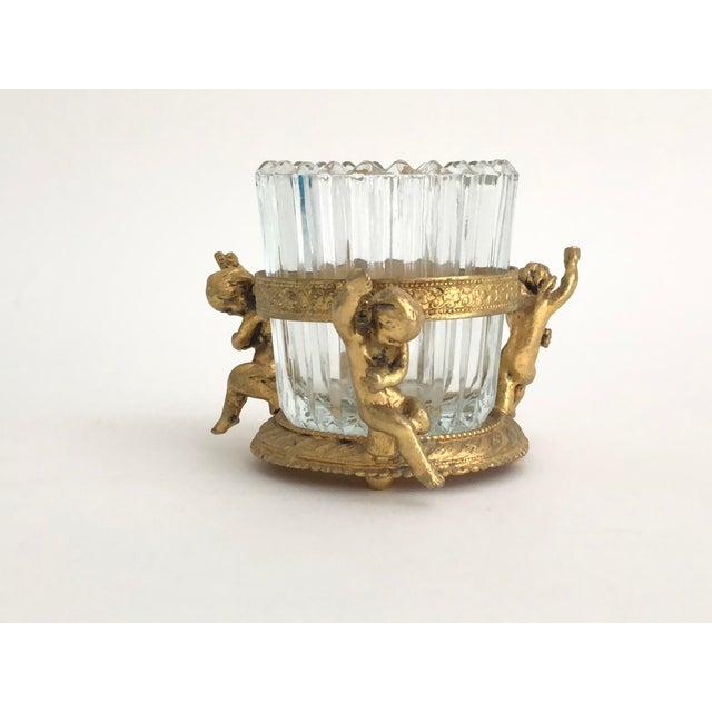 1960s Vintage Gilt Vanity Jar For Sale In Los Angeles - Image 6 of 6