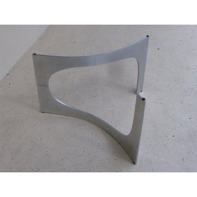 Metal Mid Century Modern Aluminum Sculptural Table by Knut Hesterberg by Bacher Tische For Sale - Image 7 of 11