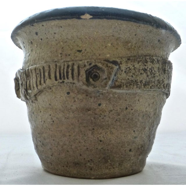 Contemporary Mid Century Signed Studio Pottery Vase For Sale - Image 3 of 10