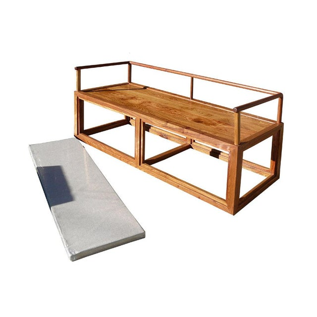 Rosewood Chinese Simple Zen Design Daybed Bench Chair For Sale - Image 5 of 5