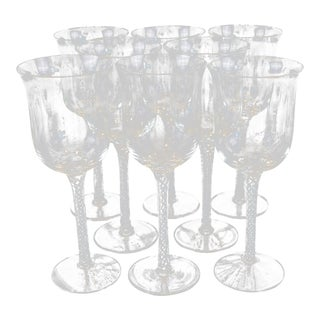 Georgian Airtwist Wine Glasses - Set of 8 For Sale