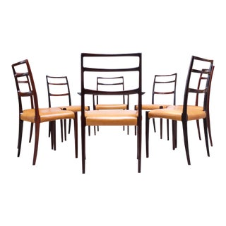 Danish Rosewood and Leather Dining Chairs by Sorø Stolefabrik - Set of 8 For Sale
