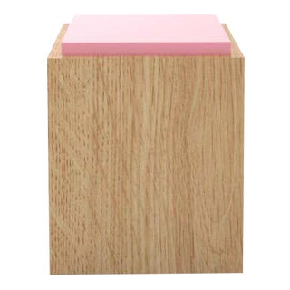 Contemporary 103C Side Table in Pink by Orphan Work - Pink For Sale