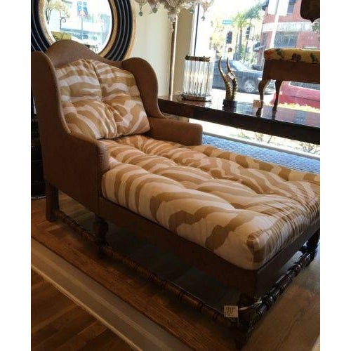 Wingback Chaise in Scalamandre Zebra - Image 3 of 3