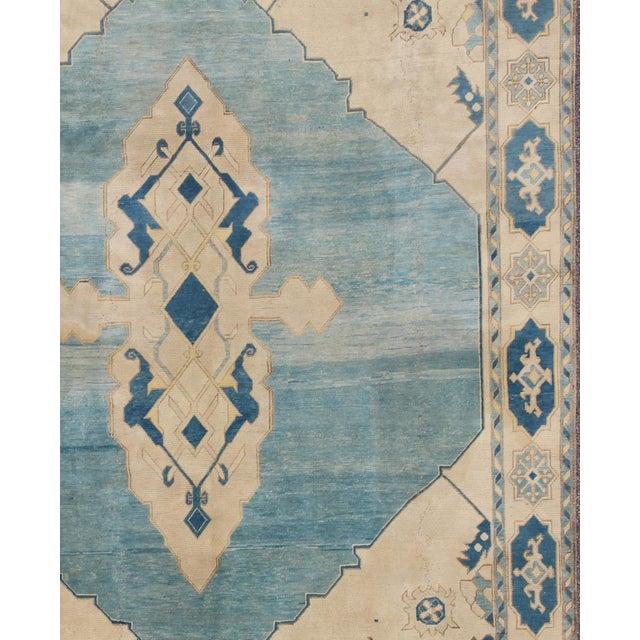 Vintage Mid-Century Turkish Oushak Rug - 10′ × 12′ For Sale - Image 4 of 9