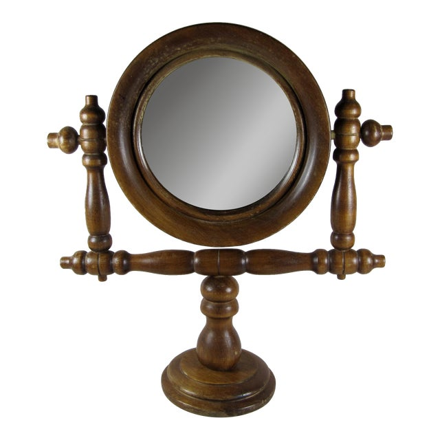19th-C. French Gentleman's Barber Shop Shaving Mirror Stand - Image 1 of 8