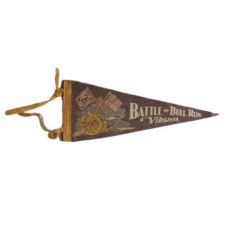 Vintage Battle of Bull Run Virginia Felt Flag Pennant