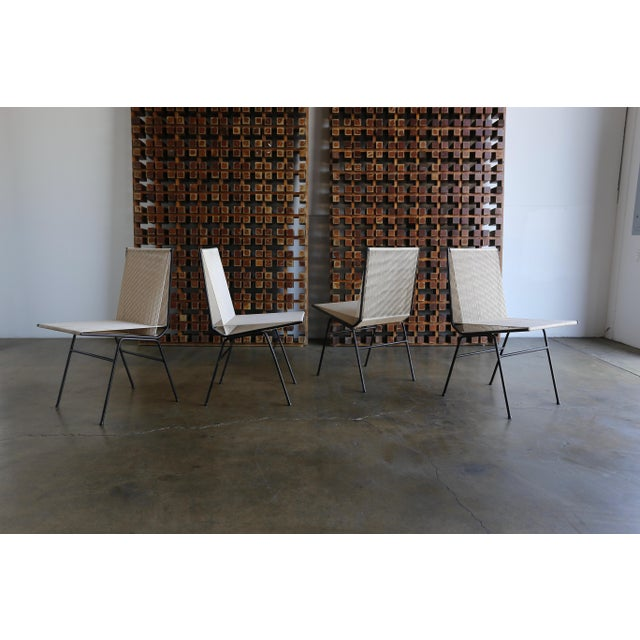 Mid-Century Modern Allan Gould String Steel Chairs - Set of 4 For Sale - Image 12 of 13