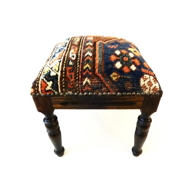 Antique Tribal Qashqa'i Fragment Stool For Sale In New York - Image 6 of 9