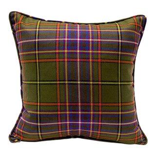 "Winston Tartan Pillow - 18"" x 18"" For Sale"