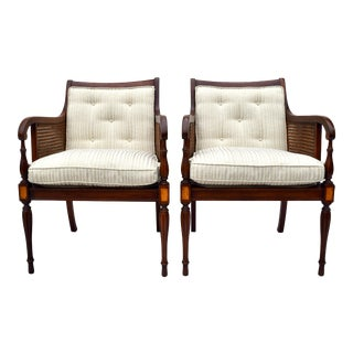 Hickory Chair Regency Style Double Caned Chairs For Sale