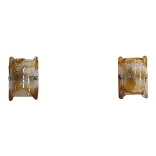 Mid-Century Murano Glass Sconces - a Pair For Sale