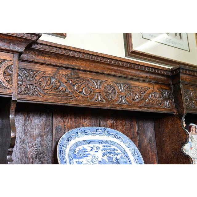 Carved oak dresser For Sale - Image 4 of 9