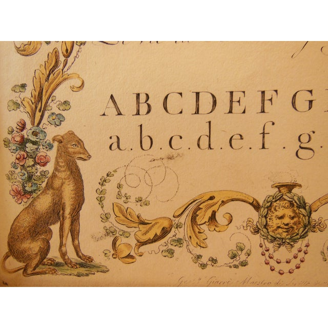 """1790s Illustrated Letter """"M"""" Calligraphy - Image 5 of 7"""