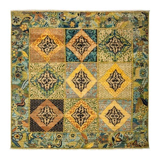 "Ziegler, Hand Knotted Arts & Crafts Wool Square Rug - 5' 10"" X 5' 10"" For Sale"