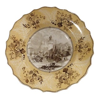 1865 Wood & Sons English Transferware Plate For Sale