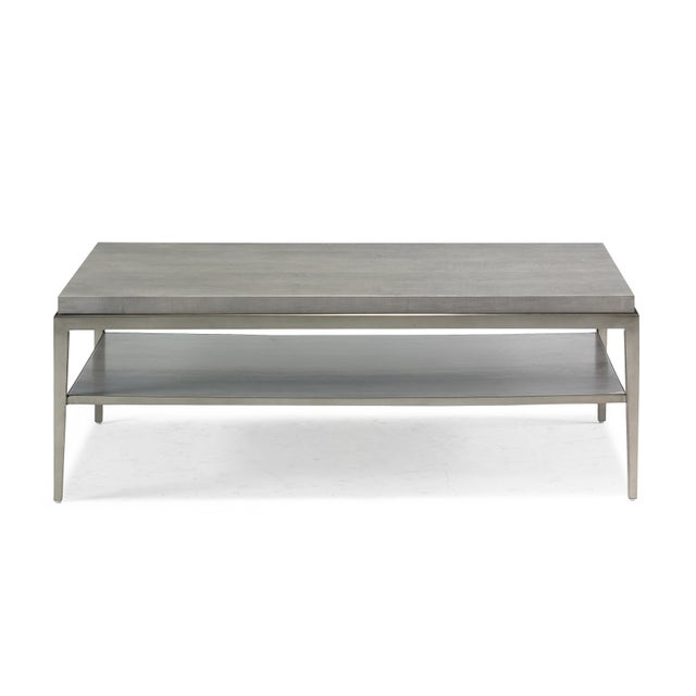 Modern Lund Rectangle Coffee Table from Kenneth Ludwig Chicago For Sale - Image 3 of 5